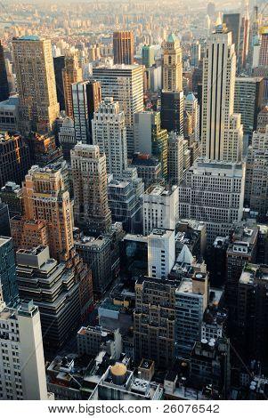 New York City skyline. Manhattan aerial view.