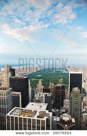 New York City Central Park aerial view in Manhattan