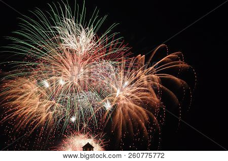 Bright Beautiful Colorful Firework Colored