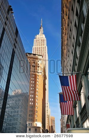 NEW YORK CITY - SEP 11: Fifth Avenue, as a symbol of wealthy New York and one of the most expensive streets in the world, with Empire State Building, September 11, 2010 in Manhattan, New York City.