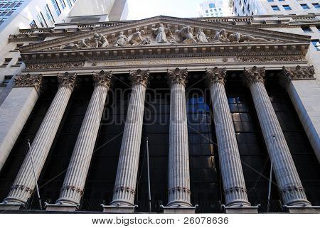 NEW YORK CITY, NY - AUG 8: Wall Street New York Stock Exchange is the world's largest stock exchange by market capitalization of its listed companies. August 8, 2010 in Manhattan, New York City.