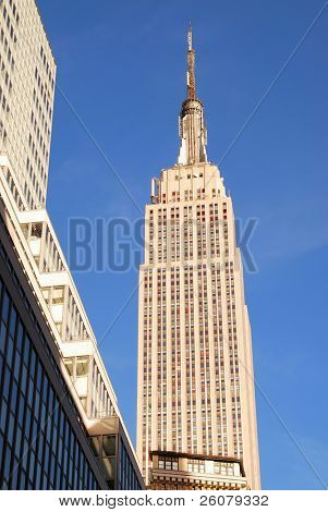 NEW YORK CITY, NY - NOV 13: The Empire State Building is a 102-story landmark skyscraper and was the world's tallest building for more than 40 years. November 13, 2010 in Manhattan, New York City.