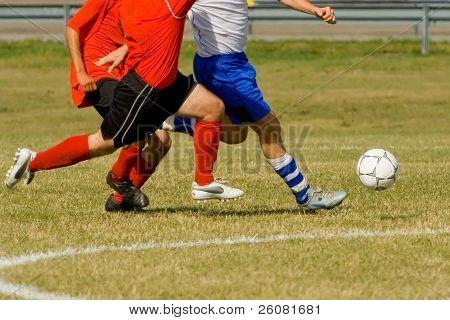 Fußball-Spieler bei einem Pflichtspiel