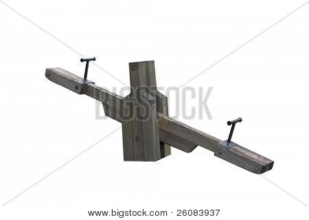 See saw Isolated on white