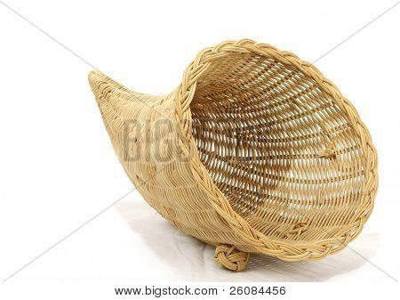 Empty cornucopia basket