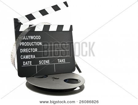 Schiefer mit Filmrolle Hollywood Klöppel