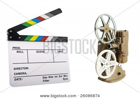 Newer white clapboard with Projector