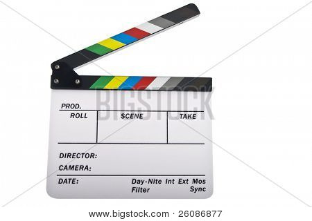 Newer open clapboard isolated on white