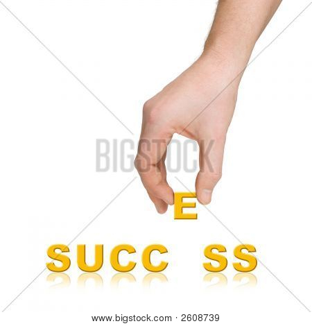 Hand And Word Success, Business Concept