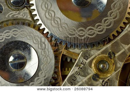 Watch gears macro shot