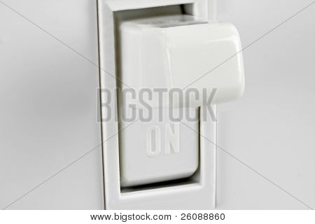 macro shot of american 110 light switch
