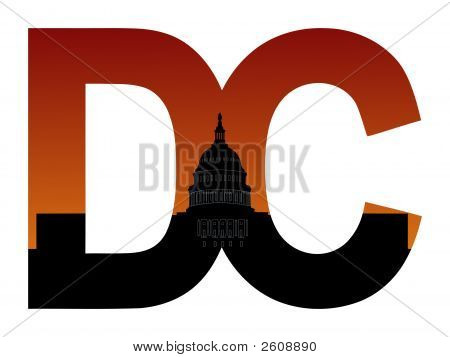 Dc Text With Us Capitol Building