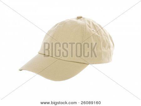 Gorra de béisbol tan aislado en blanco