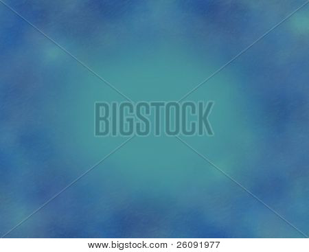 Teal and blue mottled background.