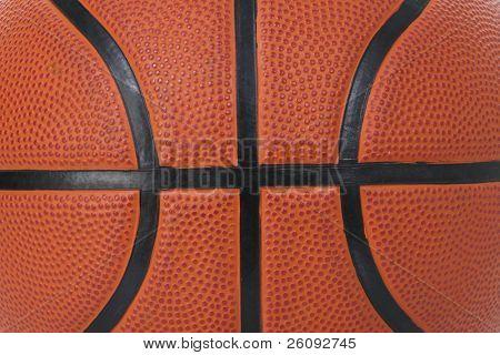 Detail of basket ball texture close-up.