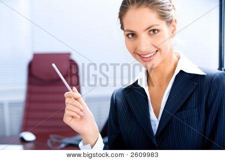 Happy Business-Frau