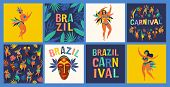 Brazil Carnival. Vector Templates For Carnival Concept And Other Users. poster