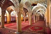 stock photo of shiraz  - Prayer Hall of Nasir al - JPG