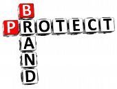 3D Brand Protect Crossword poster