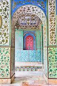 picture of tehran  - Beautyful mosaic walls of Golestan  palace - JPG