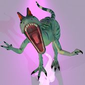 picture of dilophosaurus  - Rendered Image of a Dilophosaurus  - JPG