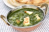 stock photo of paneer  - palak paneer  - JPG
