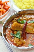 stock photo of kadai  - chicken curry  - JPG
