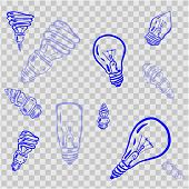 Light Bulb Line Icon Vector, Isolated On White Background. Idea Sign, Solution, Thinking Concept. Li poster