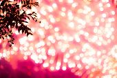 Colorful Pink Glitter Sparkle Background. Black Friday Shiny Pattern With Fireworks Bokeh. Christmas poster