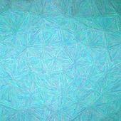 Illustration Of Square Aqua Impressionism Impasto Background poster