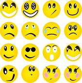 stock photo of sad faces  - Smileys - JPG