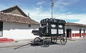 stock photo of hearse  - old black hearse - JPG