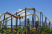 Roller-Coaster In Amusement Park, Cape Town,  South Africa poster