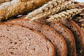 foto of whole-grain  - Close up of whole grain bread - JPG