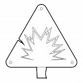 Danger Sign Icon. Outline Illustration Of Danger Sign Icon For Web poster