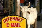 Постер, плакат: электронной почты & Интернет в индийском стиле