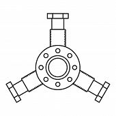 Round Mechanic Detail Icon. Outline Illustration Of Round Mechanic Detail Icon For Web poster