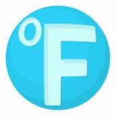Fahrenheit Icon. Cartoon Illustration Of Fahrenheit Icon For Web poster