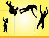 stock photo of pole-vault  - Pole Vault Vector - JPG