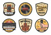 Music Icons For Musical Instruments Store, Records Label Or Festival And Recoding Studio Or Karaoke  poster