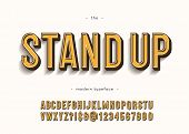 Vector Stand Up Alphabet Modern Typography Sans Serif 3d Bold Style For Book, Promotion, Poster, Dec poster
