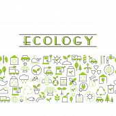 Recycling Ecological Concept poster