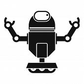 Robot On Wheels Icon. Simple Illustration Of Robot On Wheels Icon For Web poster