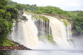 pic of canaima  - Waterfall at Canaima National Park - JPG