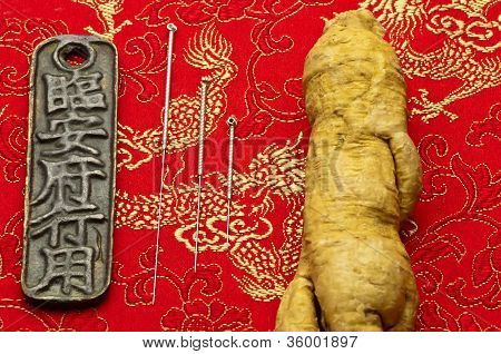 Acupuncture Needles And Ginseng