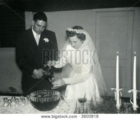 Vintage 1940 Wedding