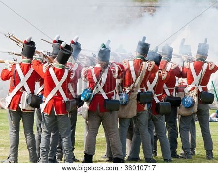 Redcoat Soldiers in battle
