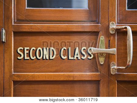 Vintage Wooden Train Door