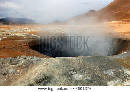 The Volcano In Iceland