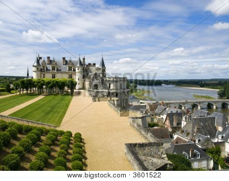 Castle Over The City Of Amboise